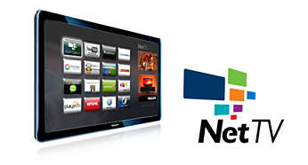 具備 Wi-Fi 的飛利浦 Net TV,讓您在電視上享有線上服務