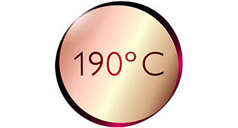 190°C maks. temperatur for perfekte stylingresultater