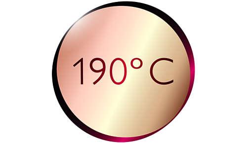 190°C Höchsttemperatur für perfekte Stylingergebnisse