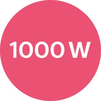 1000W for beautiful results