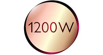 Krásné výsledky díky jemnému vysoušení spříkonem 1200W