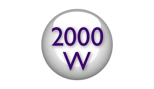 Professionale 2000 W per un volume impeccabile come dal parrucchiere