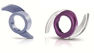 Combinaties van accessoires en snelheden met kleurcodering