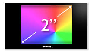 "2"" full color display for smooth and intuitive navigation"
