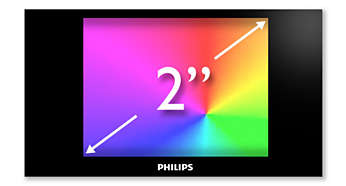 "2"" full colour display for smooth and intuitive navigation"