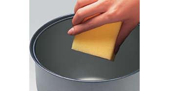 Cuve antiadhésive facile à nettoyer