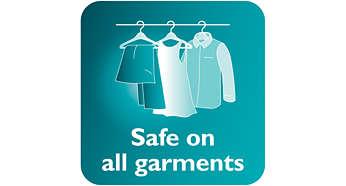 Se puede utilizar de forma segura en tejidos delicados, como la seda