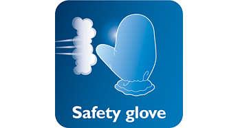 스팀으로부터 손을 보호하기 위한 장갑