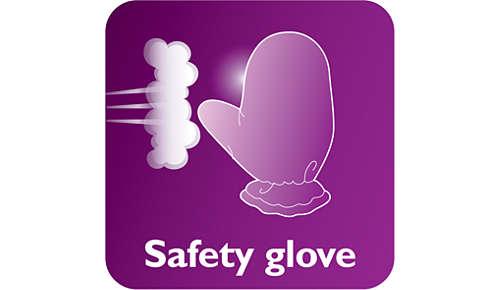 Guante para mayor protección durante el uso de vapor