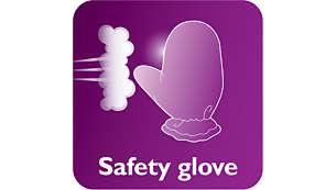 قفاز لحماية إضافية أثناء استخدام البخار