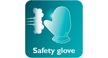 Luva para proteção extra durante a vaporização