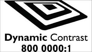 Kontrast dynamiczny 80000:1 zapewniający głęboką czerń oraz większe bogactwo szczegółów