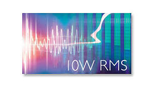 10 W RMS total output power