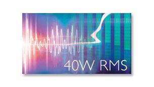 40W RMS total output power