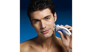 L'acqua calda apre i pori e permette una rasatura ottimale