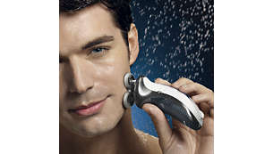 Hot water opens your pores, resulting in a close shave