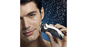 A água quente abre os poros resultando num barbear mais rente