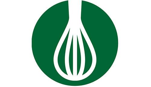 Gardeaccessoire voor het kloppen van slagroom, eiwitten en mousse