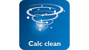 Suwak funkcji Calc-Clean zapewnia łatwe usuwanie kamienia