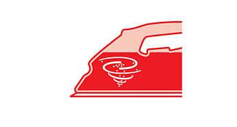 Posuvný prepínač Calc Clean pre jednoduché odstránenie kameňa zo žehličky