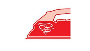 přepínač funkce Calc clean umožňuje snadné odstranění vodního kamene zžehličky
