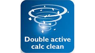 Control deslizante Calc Clean para eliminar fácilmente la cal de la plancha