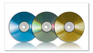 MP3-CD, CD and CD-RW playback