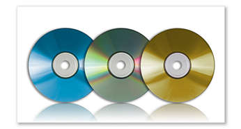 MP3-CD-, CD- og CD-RW-avspilling
