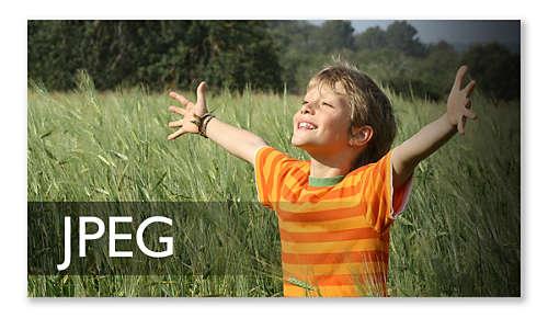 JPEG-afbeeldingen weergeven van een beelddisc