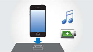 Play and charge your iPod/iPhone simultaneously