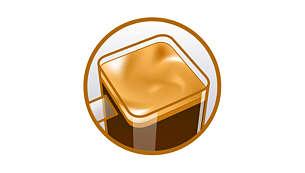 Deliciosa capa cremosa de SENSEO® con la calidad de Marcilla