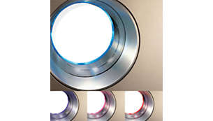 4 级空气质量指示灯可清晰地显示空气质量级别