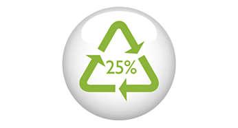Minimo il 25% dei materiali in plastica è riciclabile