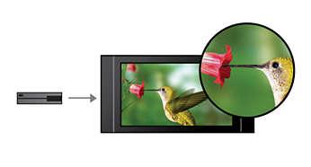 Upscaling van al uw AV-bronnen tot HD via HDMI
