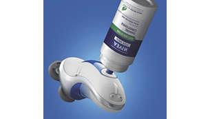 Facile sistema di riempimento della crema per la rasatura