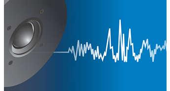 Głośniki wysokotonowe z membraną zapewniają wyraźny, szczegółowy dźwięk