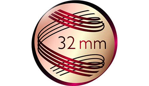 Diametro di 32 mm per ricci e onde stupendi