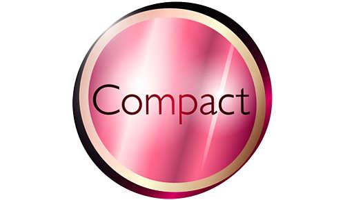 Kompakti muotoilu helpottaa käyttöä