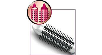 伸縮式造型梳可輕易完成捲髮效果