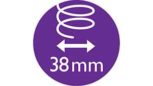 38mm termokartáč pro uhlazení vlasů