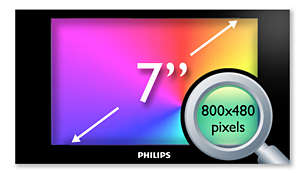 "17.8 cm (7"") high density (800x480 pixels) LCD display"