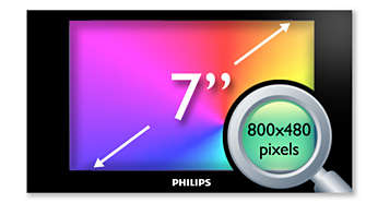 "17.8 cm (7"") high-density (800 x 480 pixel) LCD display"