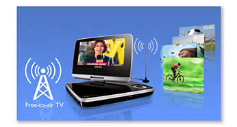 Free-to-air digital TV channel reception