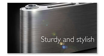 Brushed stainless steel body - sturdy and stylish