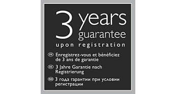 3-year guarantee upon registration