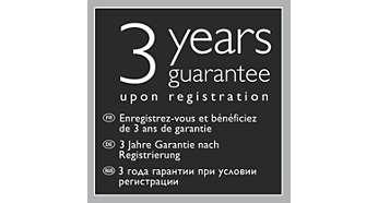 Garantie de 3ans après enregistrement