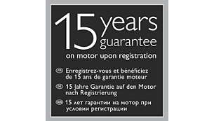 15letá záruka na motor