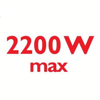 Příkon 2200W zajišťuje nepřetržitý mohutný výstup páry