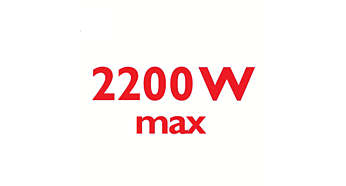 2200 Watt enables constant high steam output