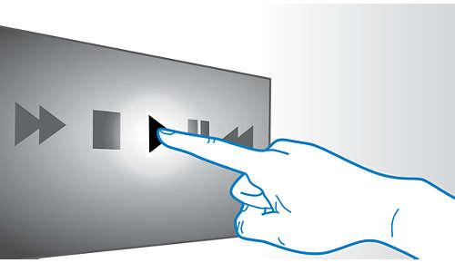 Intuïtief afspelen en volumeregeling met bediening via touchscreen